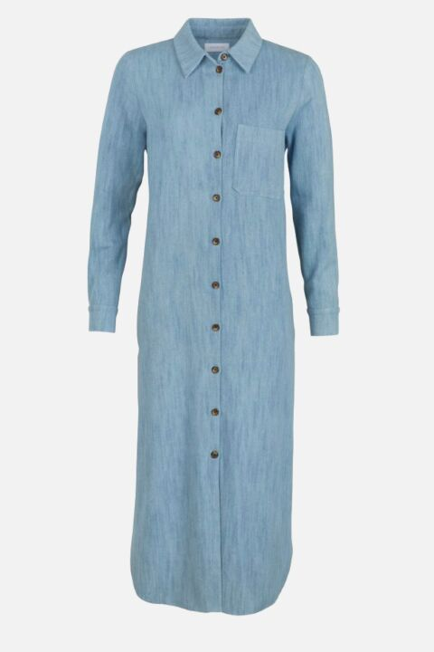 SHIRT DRESS WITH BACK PLEAT