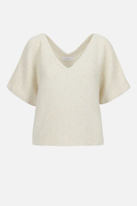 DOUBLE V-NECK MINIMAL TOP