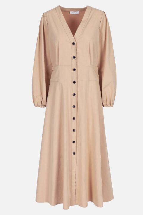 DRESS WITH PUFFED SLEEVES