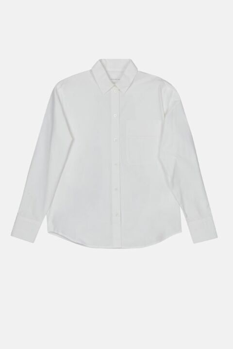 Loose shirt with back pleats
