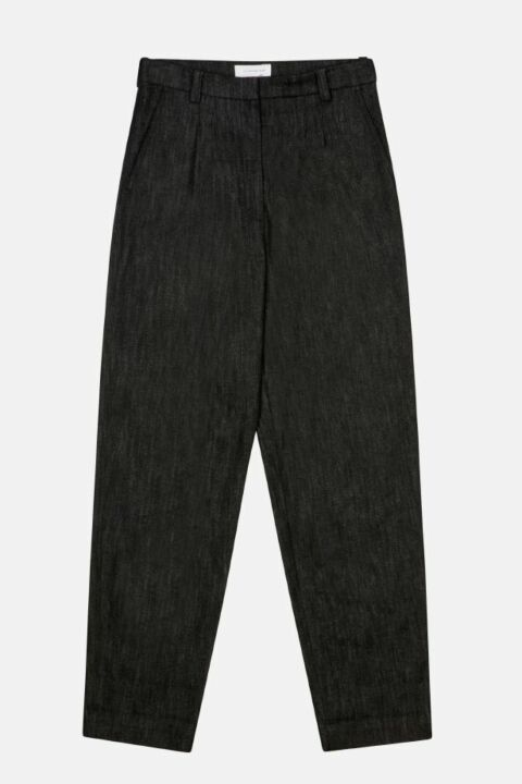 High waist pants with pleats
