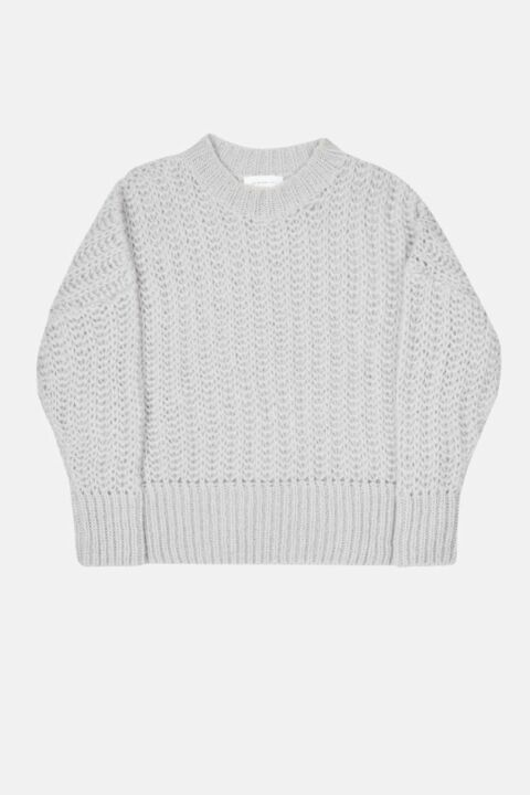 Pullover with dropped shoulder