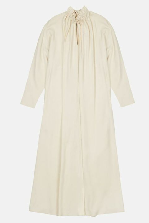 Dress with gathered collar