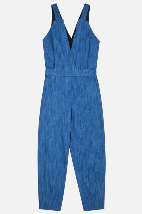 Jumpsuit overlapping front