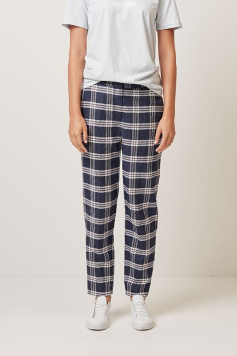 Ankle length tapered trousers