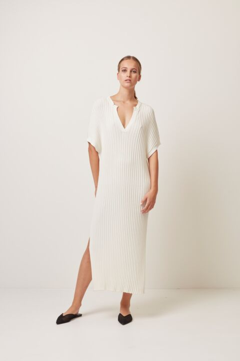 Short sleeve ribbed dress
