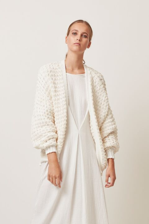 Short structured cardigan