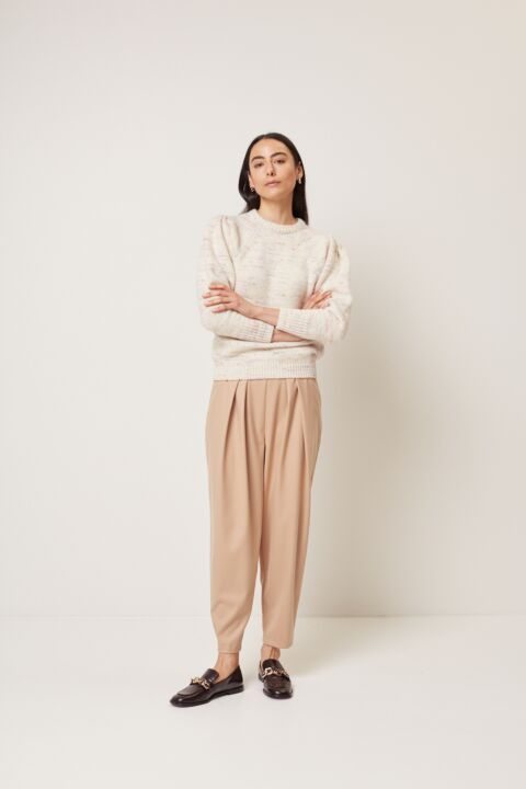 Speckled pullover
