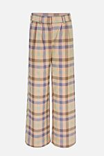 Long wide trousers with pleats